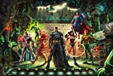 Thomas Kinkade Studios The Justice League 10 x 14
