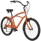 Raleigh Bikes Retroglide 7 Cruiser Bike, Orange, 18''/One Size