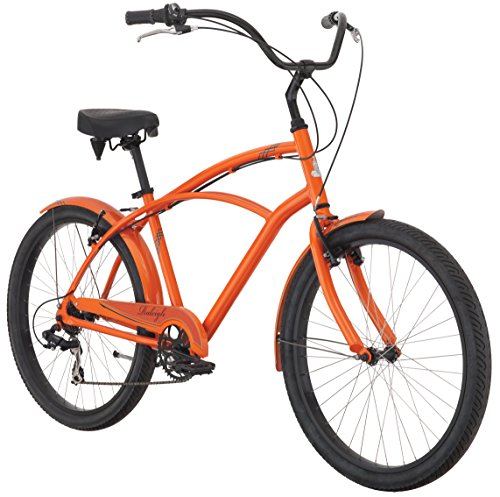 Raleigh Bikes Retroglide 7 Cruiser Bike, Orange, 18''/One Size by Raleigh Bikes