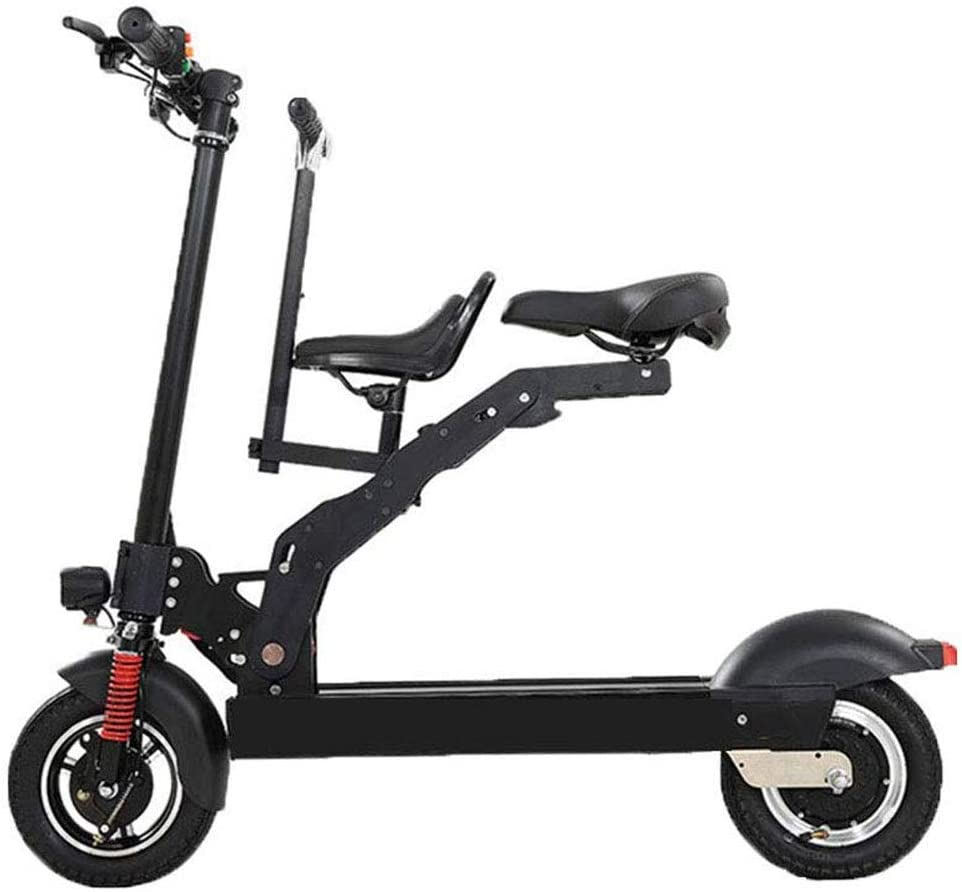 RXRENXIA Bicicleta Plegable Eléctrica, Luminum Marco De Aleación De Dos Ruedas Mini Pedal del Coche Eléctrico Ultra Ligero Vespa A para Adultos, Velocidad Máxima 30 Km/H
