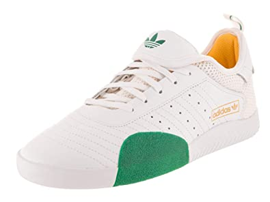 8e4aedce68 adidas Men's 3ST.003 White/Bold Green/Bold Gold Skate Shoe 8.5 Men ...