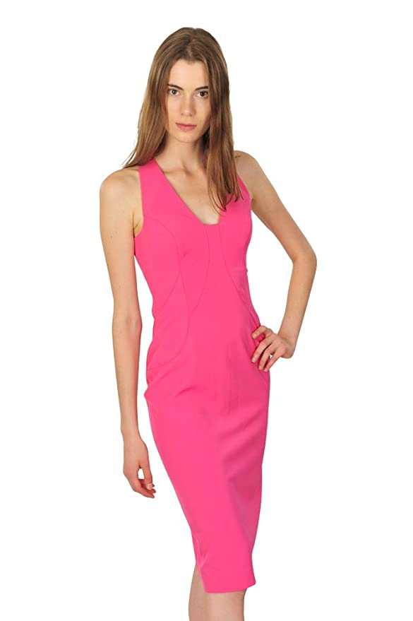 Versace Kleid Damen Rosa Einfarbig Polyester 42 IT: Amazon.de: Bekleidung