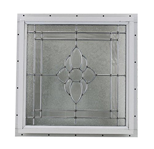 16'' x 16'' Decorative Cut Glass J-Channel Mount Shed Window by Shed Windows and More