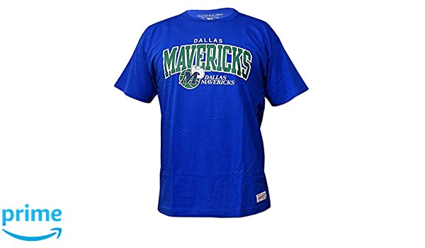 Mitchell & Ness Dallas Mavericks Team Arch NBA - Camiseta de Manga Corta, Color Azul, Medium: Amazon.es: Deportes y aire libre