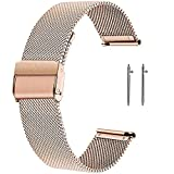 SmartDaily Rose Gold Watch Strap for Women, 18mm