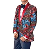Aooword Mens Small Blazer Cotton Africa Casual Dashiki Business Suit Jacket 6 XS