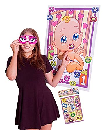 Alandra dum-baby Baby Dusche Pin der Schnuller auf das Baby Spiel