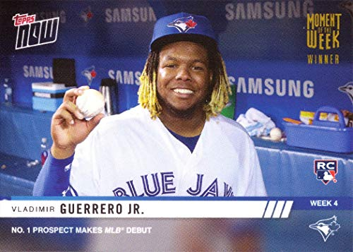 2019 Topps Now Moment of the Week Gold Winner #MOW-4W Vladimir Guerrero Jr. Baseball Rookie Card - Only 768 made!