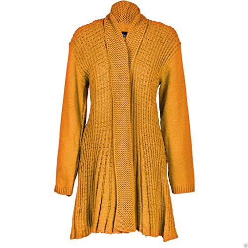 AHR LTD. - Cárdigan - para mujer amarillo Mostaza S/M 36/38