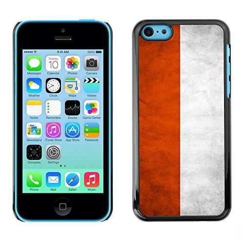 Omega Case PC Polycarbonate Cas Coque Drapeau - Apple iPhone 5C ( Poland Grunge Flag )