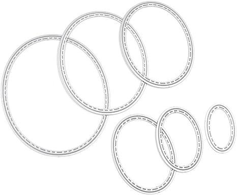 Elaborate Oval Frames Cutting Dies Metal Stencil for DIY Scrapbooking Handmade