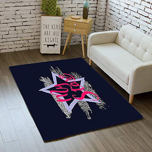 - iBathRugs Door Mat Indoor Area Rugs Living Room Carpets Home Decor Rug Bedroom Floor Mats,Tshirt Star Print screenprinting Press