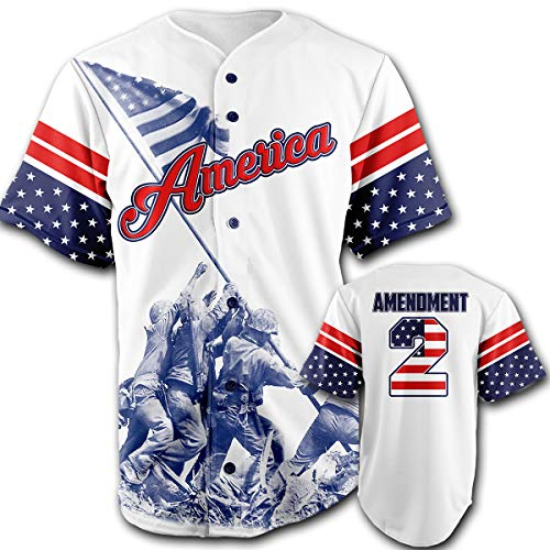 2nd Jersey - Greater Half 2nd Amendment Baseball XXL
