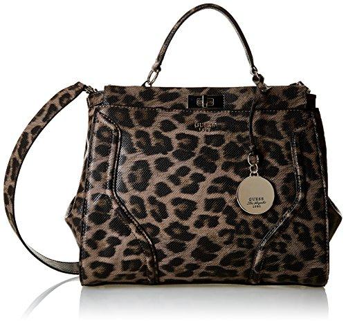Guess Damen Georgie Satchel Top Handtaschen, Gelb (Leo), One Size