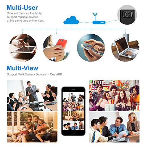 Cam Mall DIY Camera Hidden Spy Camera, Mini Wi-Fi HD 1080P Wireless  Security Nanny Cam for iPhone/Mac/Android/Window Remote View with Motion