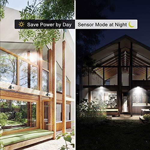 28 Solar Lights Outdoor, Luposwiten Solar Motion Sensor Lights Security Lights, 400 Lumen Solar Powered Lights for Steps Yard Patio(4-Pack)