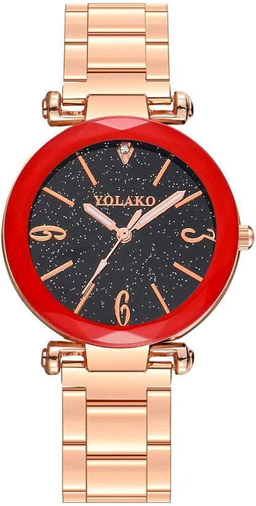Montre Montre Dames Cadeau Bracelet Montre Ciel Étoilé Montre Diamant Dames Montre Bracelet en Acier Étudiant Quartz Montre Femme Cadeau Montre Black