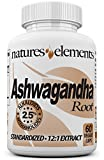 Ashwagandha Root Extract – Energy Support and Stress Relief – FREE GIFT WITH 3 BOTTLE PURCHASE! – Standardized 12:1 Extract – 2.5% Withanolides – 1 Month Supply – 500mg Vegetarian Capsules