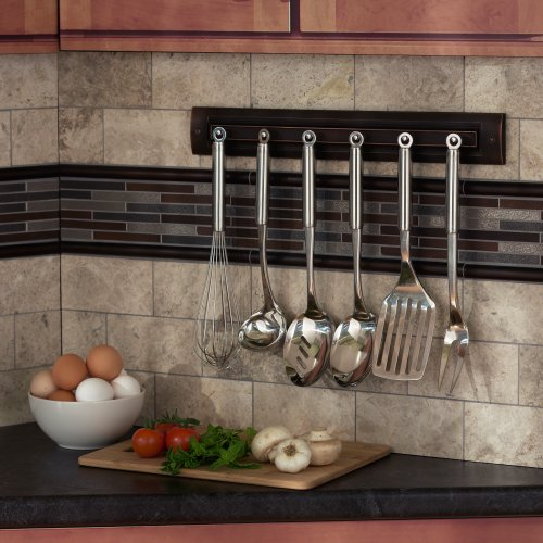 Utensil Rack Finish: Oil Rubbed Bronze by RQ Home