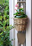 SparkWorks Willow Shovel Planter Includes a Handmade and Fully Lined Willow Basket