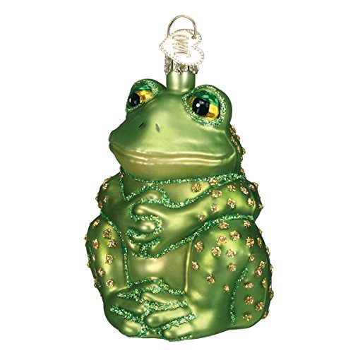 (Old World Christmas Ornaments: Sitting Frog Glass Blown Ornaments for Christmas Tree)