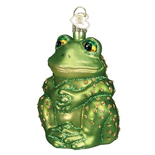 Frog Tree Christmas Ornaments (Old World Christmas Ornaments: Sitting Frog Glass Blown Ornaments for Christmas Tree)