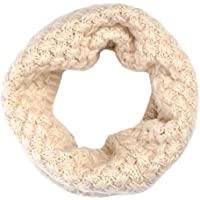 Lo Shokim Children Kids Neck Warmer Thick Knitted Plush Winter Warm Infinity Scarf Circle Loop Scarves