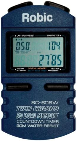 Robic SC-606W Stopwatch with 50 Lap Memory