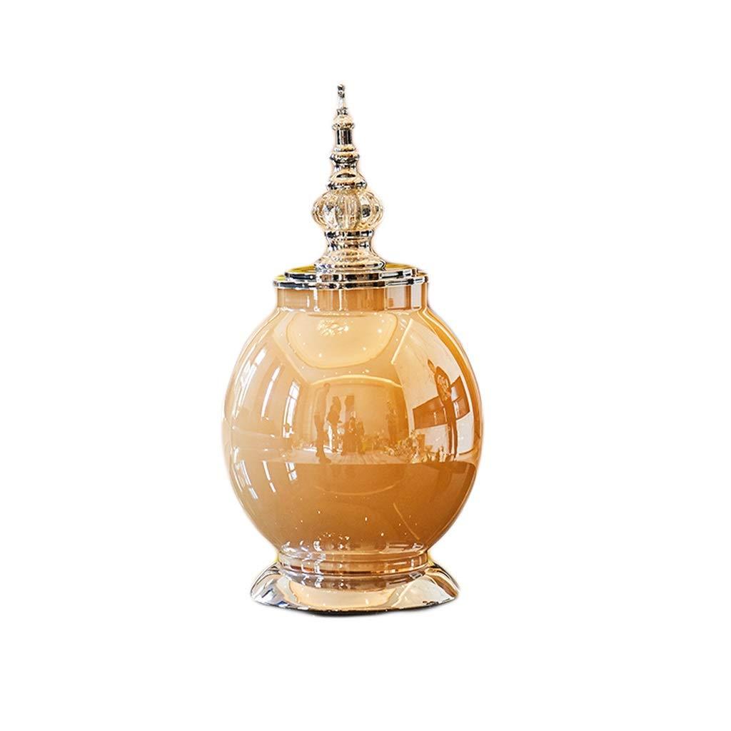 花瓶 カバーライトが付いているガラス花瓶手作りの工芸品豪華な寝室の家の装飾(35 * 18 cm) B07RGGZM97