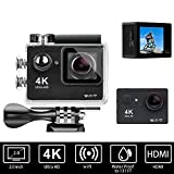 Bekhic V90 4K HD Wifi Sports Action Camera Ultra 30m Waterproof DV Camcorder 12MP 170°Wide Angle with Full Accessories Luxury Kits