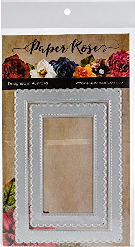 Paper Rose 16682 Scalloped Rectangle Frames Die-Cuts Multicolor