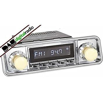 Santa Barbara Classic Dab Car Radio Chrome Hooded Amazon Co Uk