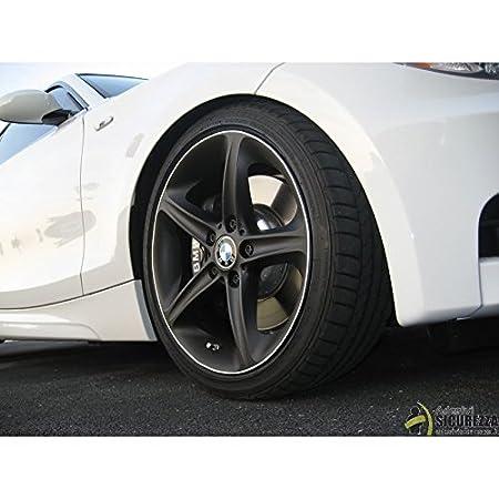 Nero Strisce Auto adesive cerchi rifrangenti riflettenti marca 3M stripe for wheel StickersLab