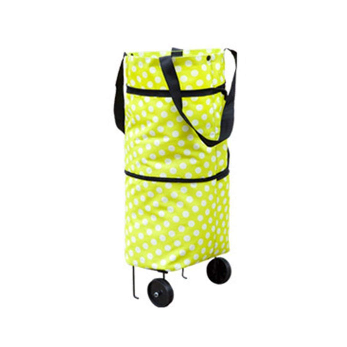 Fashionable Design Large Capacity Waterproof Oxford Cloth Foldable Shopping Trolley Wheel Bag Traval Cart Luggage Bag