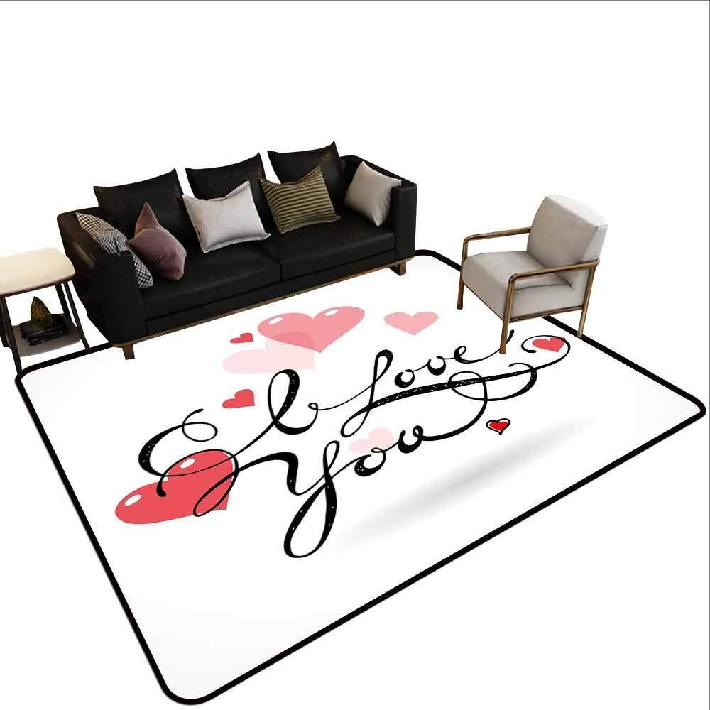 Alfombra para el hogar, diseño con Texto en inglés I Love ...