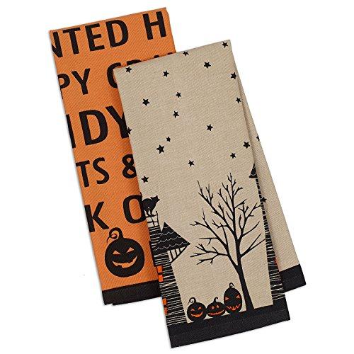 DII Cotton Halloween Dish Towels, 18x28