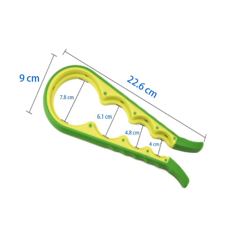Qianming Apriscatole Ampie apriscatole per mani e anziani deboli con artrite Coperchi per bottiglie e impugnatura in gomma Silicone Hand Gripper Aid giallo, verde