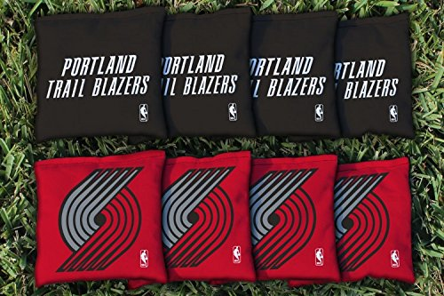 NBA Replacement All Weather Cornhole Bag Set NBA Team: Portland Blazers Trailblazers by Victory Tailgate