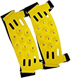 Safety Care Big Foot Ice Claws Snow & Ice Traction Cleats - Heavy Duty, Lightweight No-Slip Studded Grips Prevent Slipping - Fits All Shoes, Boots, and Monster Size Boot Styles - Great for Hiking, Walking, Hunting, Construction