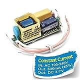 Chanzon LED Driver 600mA (Constant Current Output) 3V-7V (Input 100-240V AC-DC) (1-2) x3W 3W-6W Power Supply 600 mA Lighting Transformer Drivers for High Power COB Light Lamp Bulb (PCB Board)