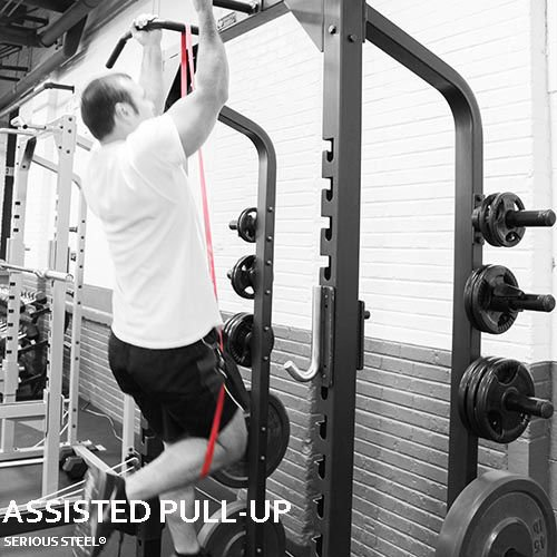 Serious Steel Fitness Starter Resistance Band & Crossfit Set, Assisted Pull-up Package#1, 2, 3 Band Set (5-80 Lbs) Free Pull-up and Band Starter e-Guide by Serious Steel Fitness (Image #7)