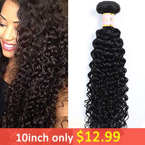 Zoe Hair Brazilian Kinky Curly Virgin Hair 1 Bundle Brazilian Curly Hair 8A 100% Unprocessed Brazilian Kinky Curly Virgin Hair Extensions 100g/pc Natural Black Color(10inch) ... ...