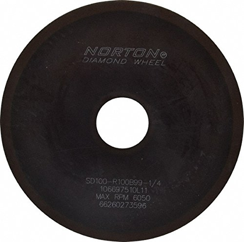 Norton - 6 Inch Wheel Diameter x 1-1/4 Inch Hole Diameter x 1/16 Inch Thick, 100 Grit Surface Grinding Wheel 67303057 by Norton Abrasives - St. Gobain