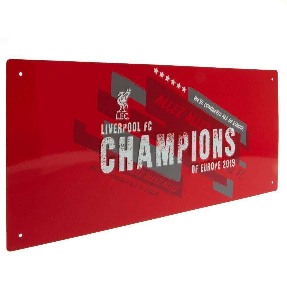Liverpool Metal Street Sign 40 X 18Cm CHAMPIONS OF EUROPE