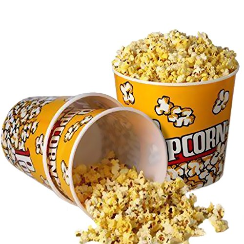 Novelty Place] Retro Style Plastic Popcorn Containers for Movie Night - 7.25