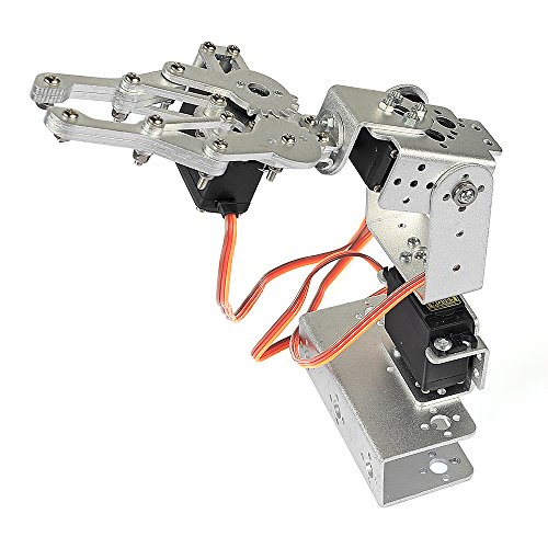 SainSmart 3-Axis Desktop Robotic Arm, Assembled for Arduino UNO MEGA2560 (Silver)