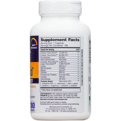 Enzymedica - Digest Gold + Probiotics, Advanced Digestive Enzymes + Probiotics for Essential Digest Care, 180 Capsules (FFP) by Enzymedica (Image #5)