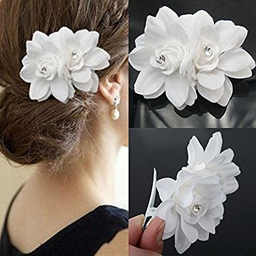 Orchid Bridal Wedding Barrette Headpiece