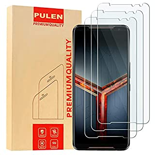[3 Pack] PULEN for Asus ROG Phone 2 ZS660KL(2019) Screen Protector,HD Anti-Fingerprints Scratch Resistance Bubble Free 9H Hardness Tempered Glass for ASUS ROG Gaming Phone II ZS660KL(2019)