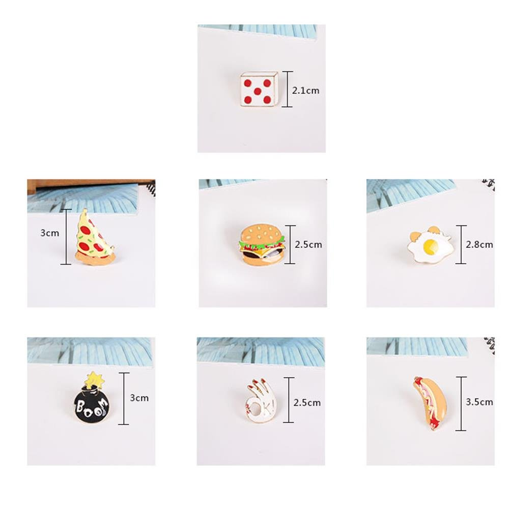 Onnea Enamel Brooch Pin Set Brooches Patches for Clothes/Bags/Backpacks (Fast food pin set) by Onnea fashion (Image #4)